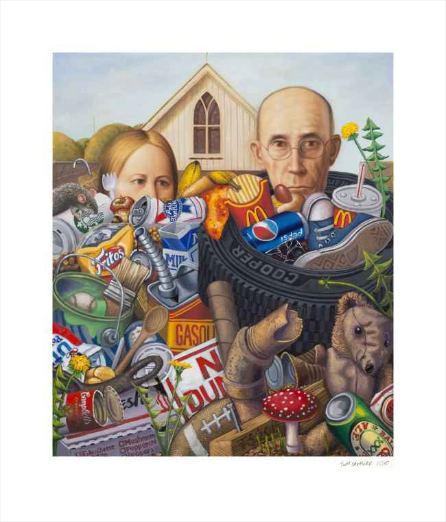 American Garbage print by Tom Sanford
