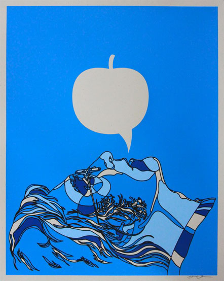 Blue Apple print by Dave Flores
