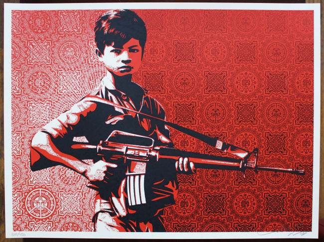 Shepard Fairey - Duality of Humanity 4