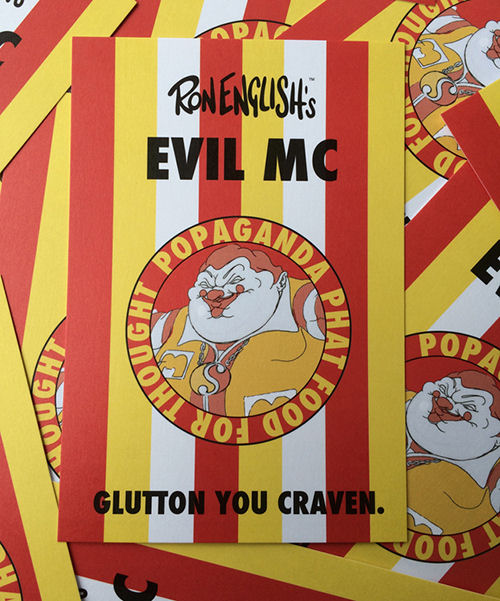 Ron English - EVIL MC Supervillain