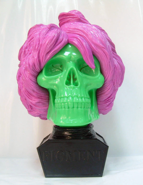 Figment (Andy Warhol) Bust - Violet and Green Edition by Ron English