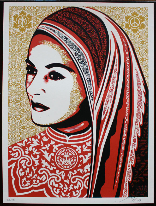 Shepard Fairey - Peace Woman
