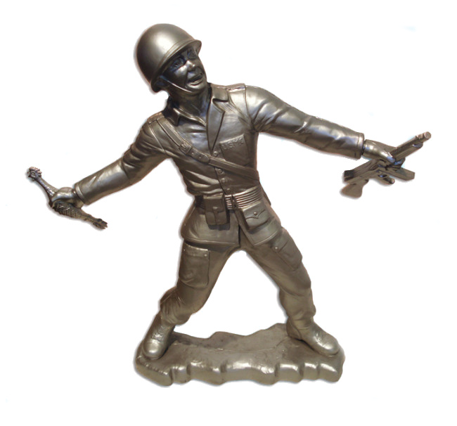 Frank Kozik - Big Army Man in Silver