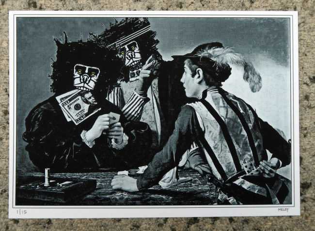 The Cardsharps (Caravaggio) print by Joseph Meloy