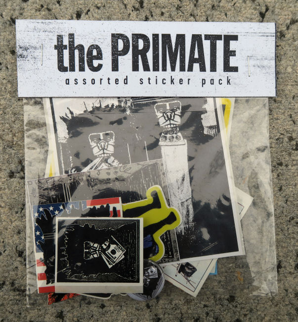 The Primate Assorted Sticker Pack by Joseph Meloy