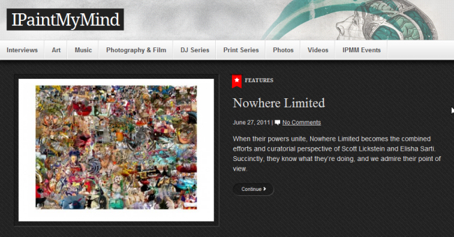 NOWhere Limited article at I Paint My Mind