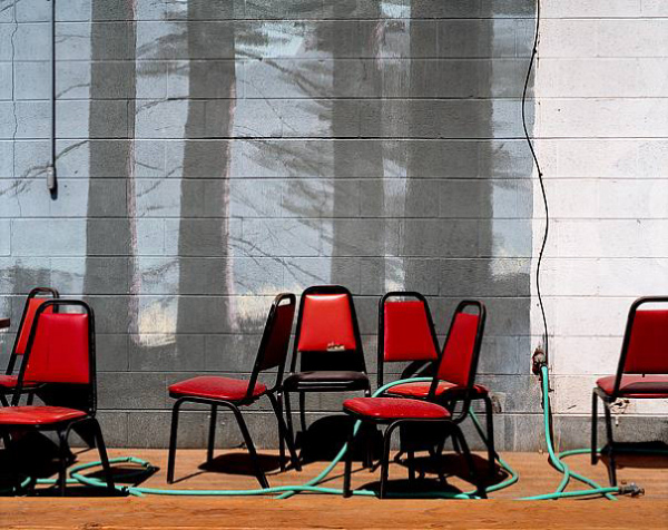 Alexis Pike - Red Chairs - Bliss Idaho - 2006