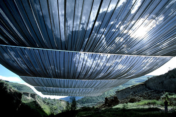 Christo and Jeanne Claude - Over the River - Life-Sized Test 1999
