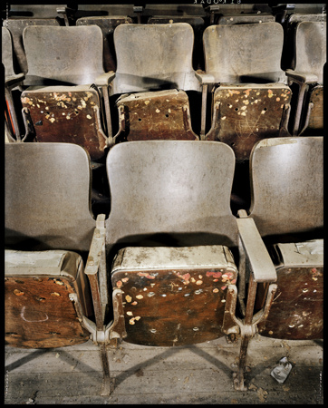 Dan Winters - Chewing Gum on Theater Seats, Electra, Texas, March 27, 1995