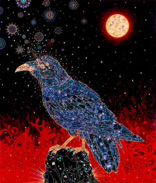 Fred Tomaselli - Big Raven - 2008