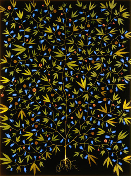 Fred Tomaselli - Super Plant - 1994