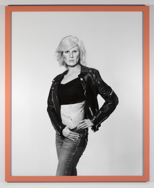 Gillian Wearing - Me as Warhol in Drag with Scar - 2010