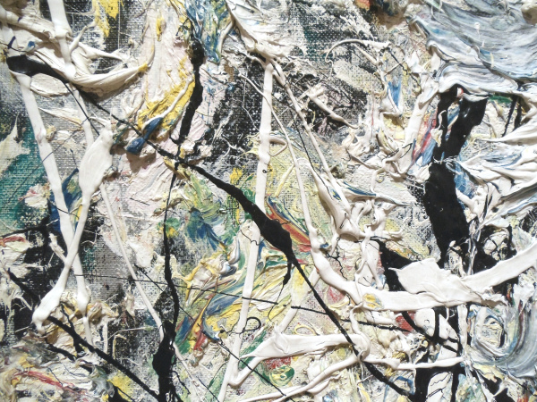 Jackson Pollock - White Light - detail - 1954