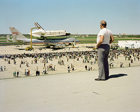 Joel Sternfeld - The Space Shuttle Columbia Lands at Kelly Air Force Base San Antonio Texas