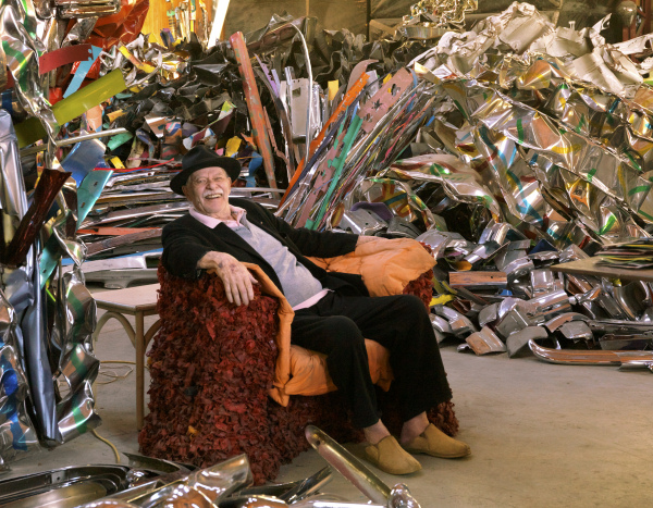 John Chamberlain in his studio - 2011