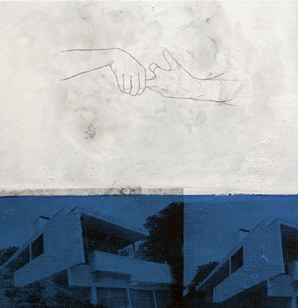 Julião Sarmento - Silver Lake Blue Hands - 2010-11