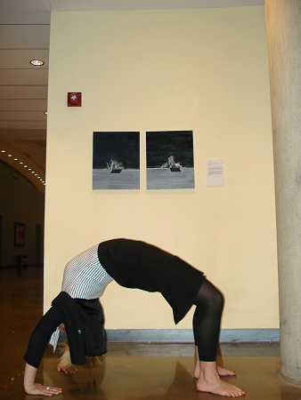Jumping in Art Museums - Allison back bend
