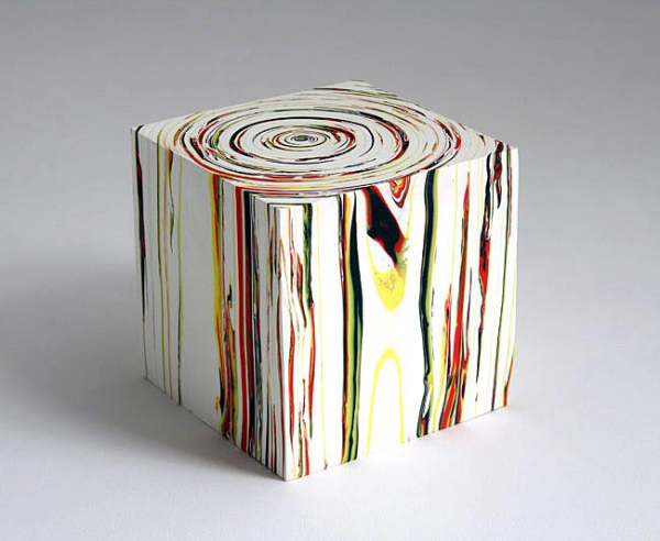 Margie Livingston - Study for Spiral Block #5 - 2010