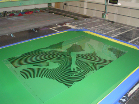 D & L Screenprinting - Drinkin' with Cyclops - production photo - 2009
