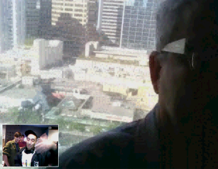 Mark Mothersbaugh - NOWhere Limited - still from video chat - 2009