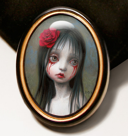 Mark Ryden - Rose Lapel Pin - detail