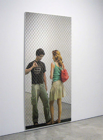 Michelangelo Pistoletto - Through the Fence - Him and Her