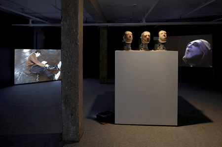 Nathaniel Mellors - Giantbum - installation view - 2008