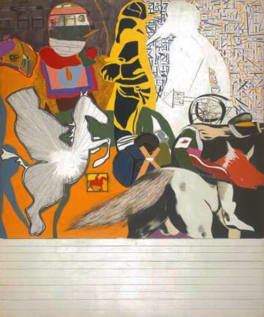R.B. Kitaj - Untitled - Isaac Babel Riding with Budyonny - 1962