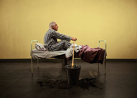 Teun Hocks - Untitled (Man Rowing in Bed)