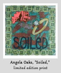Soiled Print by Angela Oaks at NOWhere Limited