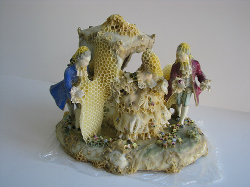 Aganetha Dyck - Porcelain and Honeybees (3)