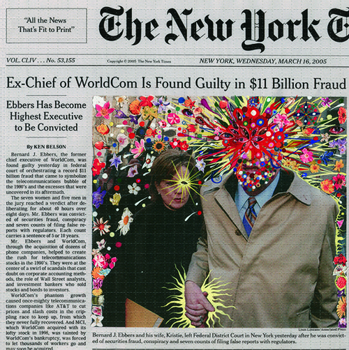 Fred Tomaselli - New York Times Manipulation