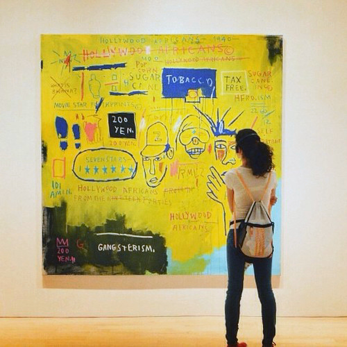 Jean-Michel Basquiat - On Crossing Words Out