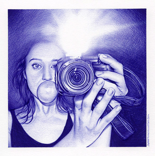 Juan Francisco Casas - Ballpoint Drawing (3)