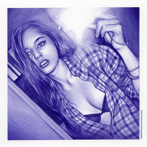 Juan Francisco Casas - Ballpoint Drawing (7)