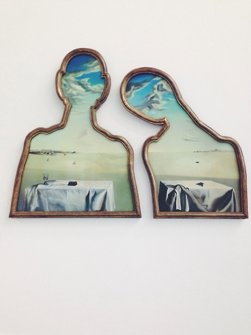 Salvador Dalí - A Couple with their Heads Full of Clouds 1936
