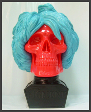 Ron English - Figment (Andy Warhol Bust) in Blue/Red