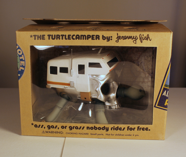 Jeremy Fish - Turtle Camper Platinum Signed w/Drawing